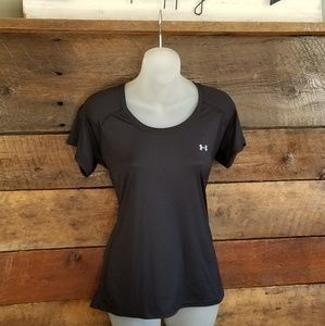 Under Armour Semi-Fitted Black Shirt Medium NWOT